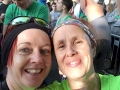 Lina and Nicki ready to run the Nottingham Half