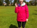 A very happy Anna with her Edinburgh marathon medal