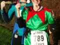 Maggie and Harriet after the Moreton Morrell Christmas Cracker 10k, 2014