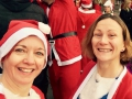 Nicki and Harriet, 5k Myton Hospice Santa Run, 2014