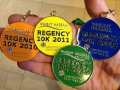 Anne's Regency Run medals