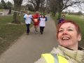 Nicki marshalling at Sport Relief 2016