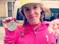 A justly proud Jennifer Camilletti with her VLM medal