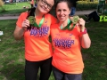 Lina and Jodie - fabulous finishers at the Paris marathon