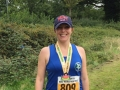 Emma, happy with her Kenilworthh Half medal