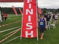 Emma at the finish of the Bath Two Tunnels Half Marathon