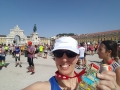 One happy Rebecca at the end of a very hot Lisbon Marathon