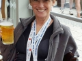 Maggie, enjoying her reward after two days taking part in the Columbia Threadneedle World Triathlon Leeds