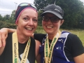 Nicki and Helen, looking happy at the end of the Kenilworth Half