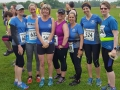 Our ladies at the start of the Ragley off road 10k