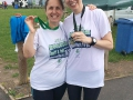 Rebecca and Lina proud of their Worcester marathon and half marathon medals