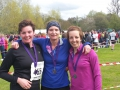 Regency Run medals - Zoe and Rebecca with friend, Liz