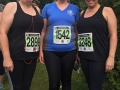 Anne, Jo and Olivia smiling through the nerves at the start of the Two Castles